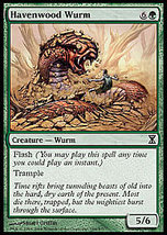MTG Havenwood Wurm FOIL (Time Spiral) MINT + BONUS! - $1.00