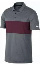 Nike Victory Dri-Fit Golf Polo 833067 093 Athletic Gray Maroon Mens XL NEW - $54.45