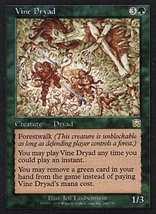Mtg Vine Dryad (Mercadian Masques) Mint + Bonus! - $1.99