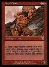 MTG x2 Hired Giant (Mercadian Masques) MINT + BONUS! - $1.00