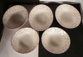 Sango Larry Laslo CONFETTI Coupe Soup Bowl (s) LOT OF 5 Colorful Retired - $24.25