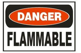 Danger Flammable Safety Sticker Sign D659 OSHA - $1.45+
