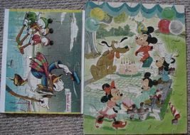 Vintage Jigsaw Puzzles (2) Mickey Mouse/Mickey Mouse Club - $22.99
