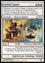 MTG x4 Faithful Squire Betrayers Kamigawa MINT + BONUS! - $1.00