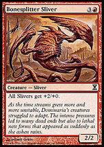 MTG Bonesplitter Sliver FOIL (Time Spiral) MINT+BONUS! - $1.25