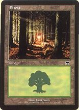 MTG x4 Forest BASIC LANDS 1 of each version Onslaught - $1.00
