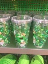 M&M's World Green Character Water Plastic Tumbler New - $21.16
