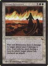 MTG Fire And Brimstone (The Dark) MINT + BONUS! - $1.00