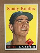 1958 Topps #187 Sandy Koufax Baseball Card EX+/NM Los Angeles Dodgers RF1 - $200.00