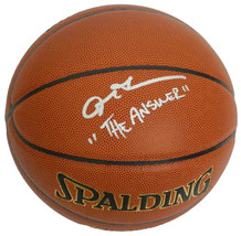 """Allen Iverson Signed Spalding NBA Indoor/Outdoor Basketball w/ """"The Answer"""" - $310.00"""