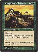 MTG x4 Stampeding Wildebeests (Visions) MINT + BONUS! - $1.99