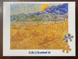 Unicef Art Puzzle 9850 Vincent Van Gogh Moonrise Painting 1000 Pieces W/... - $37.13