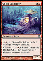 MTG x4 Ghost-Lit Raider Saviors of Kamigawa MINT+BONUS! - $1.50