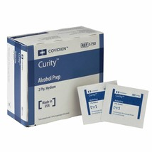1 Box of 200 Curity Sterile Alcohol Prep Pad wipes topical antiseptic KD... - $11.74