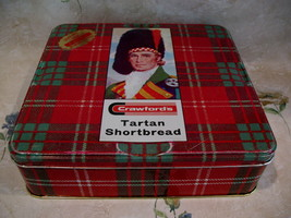 Vintage Crawfords Tin Tartan Shortbread Collector Souvenir Scottish Souv... - $12.95