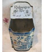 Vintage RIDGWAYS TEA Tin 5 O'Clock Collector Souvenir ASIAN Antique Coll... - $64.95