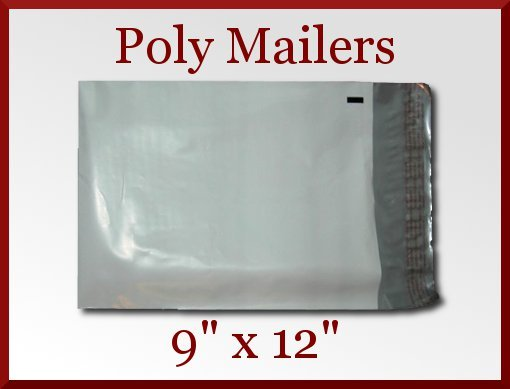 15 Premium White Poly Mailer 9x12 Bags Envelopes 9 x 12 Made in America