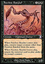 Mtg Faceless Butcher (Time Spiral) Mint + Bonus! - $1.00