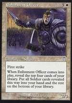 MTG x2 Enlistment Officer (Apocalypse) MINT + BONUS! - $1.00