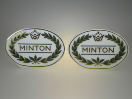Minton Collection Display Sign Set of 2 Made in England - $24.27