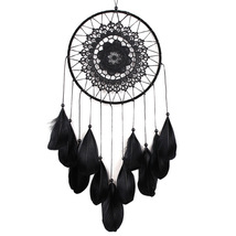 Handmade Dreamcatcher Black Feather Lace Indian Dream Catcher - $7.99