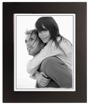 """Malden Extra Wide Real Wood Molding Glass Picture Frame, 8"""" x 10"""", Black - $23.54"""