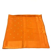 AUTHENTIC LOUIS VUITTON Monogram Carre - Monaco Silk Scarf Orange M71149 - $200.00
