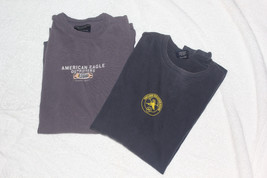 Lot of 2 American Eagle Men's XS & S Long Sleeve 100% Cotton Pullover Sh... - $75,76 MXN