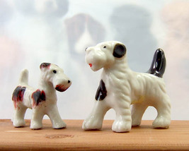 Pair of vintage Terrier dog figures - $5.00