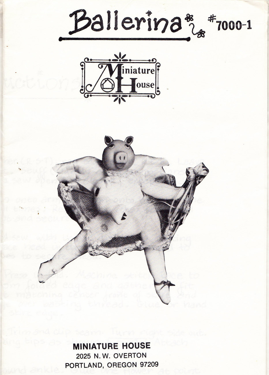 Primary image for DOLL MAKING PATTERN BALLERINA TU-TU CUTE!