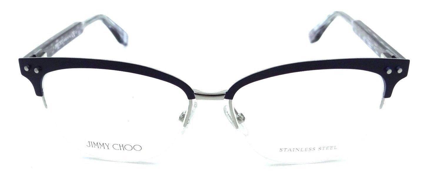 bbafd70c0e Jimmy Choo Rx Eyeglasses Frames JC 138 LYH 53-15-140 Blue Palladium