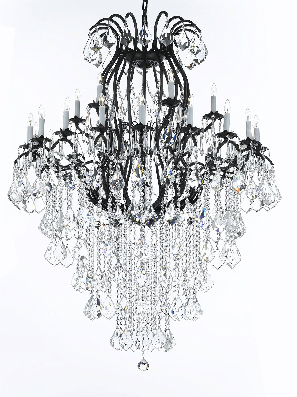 Wrought iron chandelier crystal chandeliers and 50 similar items wrought iron chandelier crystal chandeliers lighting empress crystal tm h60 w4 aloadofball Gallery