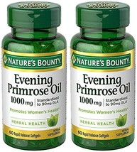 Evening Primose Oil 1000 mg, 2 Bottles (60 Count) - $39.58