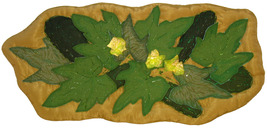 A Neighborhood of Zucchini: Quilted Art Wall Ha... - $305.00