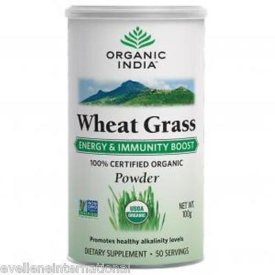 Organic India  Wheat Grass (powder)  100 GM  Dietary Supplement 100% Veg