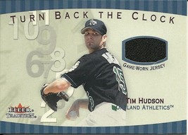 2001 Fleer Tradition Turn Back The Clock Tim Hudson TBC6 Athletics - $4.00