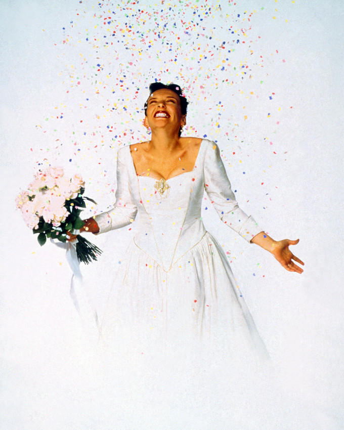 Primary image for Toni Collette Muriel'S Wedding In Dress Holding Flowers Confetti 16x20 Canvas