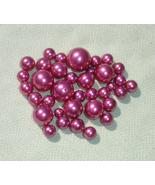 Mauve Pink Glass Pearl Bead Lot-  30 pcs - Jewelry Making Supplies - $1.25