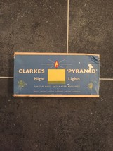 """Complete Set of 8 Clarke's """"Pyramid"""" Night Lights (Candles)-RARE in original box image 2"""