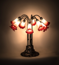 "22""H Pink/White Pond Lily 10 LT Table Lamp - 12301 - £363.07 GBP"