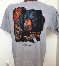 Banff National Park Canada Black Bear Gray Graphic Tee 100% Cotton XL X ... - £10.74 GBP