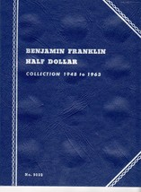 Coin Folders Benjamin Franklin Half Dollar  1948 to 1963 Whitman Coin Fo... - $4.50