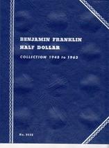 Coin Folders Benjamin Franklin Half Dollar  1948 to 1963 Whitman Coin Fo... - $4.50