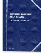 Coin Folders Benjamin Franklin Half Dollar  1948 to 1963 Whitman Coin Fo... - $5.00