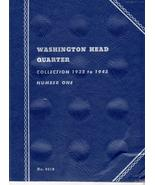 Coin Folders Washington Head Quarters  1932 to 1945 Whitman Coin Folder - $5.00
