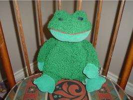 Russ Berrie Paddy Frog  Plush Toy  3128 Large 12 inch - $67.54