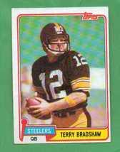 1981 Topps Terry Bradshaw Pittsburgh Steelers - $8.00