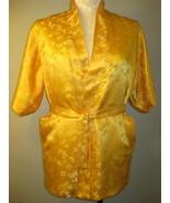 Golden Embroidered 100% Silk Robe Size M - $34.00