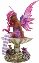 Amy Brown Gothic Manga Magenta Fairy Sculpture Figurine Whimsical Wild F... - $34.99