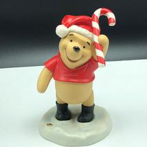 Winnie Pooh Friends Figurine Walt Disney Porcelain Enesco Sweetest Holiday Candy - $49.45